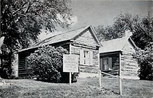 Portage-Wisconsin-French-Log-Cabins-Fort-Winnebago-Surgeon-039-s-Quarters-1963-PC