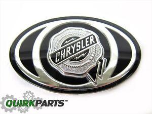 2005-2010-Chrysler-300-S-Grille-Emblem-Decal-Silver-Black-MOPAR-OEM