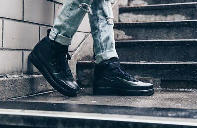 outlet store sale 50% off 100% high quality NIKE AIR FORCE 1 FOAMPOSITE CUP AF1 BLACK MEN'S TRAINERS SHOES ...