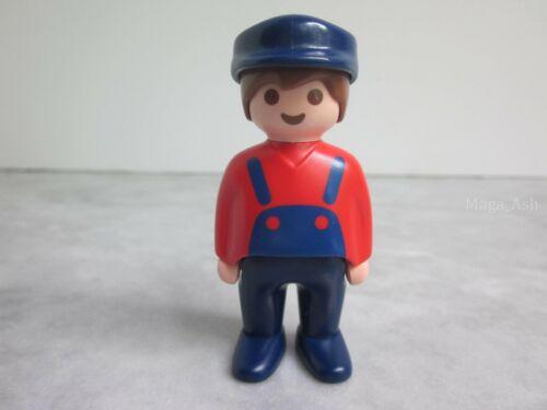 Farm Dollhouse PLAYMOBIL Figure 1.2.3 123 Man Farmer Overalls Red Shirt Hat