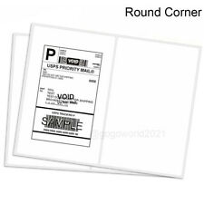 85x55 Shipping Labels Rounded Corner Self Adhesive 2 Per Sheet 200 5000 Labels