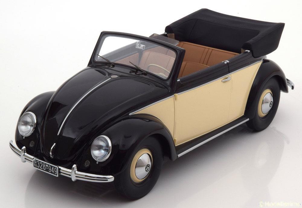 VW BEETLE KAFER 0 CONVERTIBLE 1949 CREAM Negro MINICHAMPS MINICHAMPS MINICHAMPS 107054131 69c290