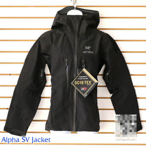 Details about NEW Arcteryx Alpha SV Jacket Black GTX Pro Shell retail $750 Canada Top of Line