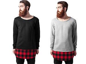 URBAN CLASSICS Jersey Men's sweatshirt insert shirt Long Flanell Bottom Open