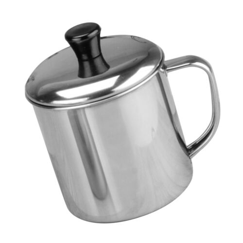Practical Stainless Steel Coffee Mug Water Beverage Drinking Cup With Handle