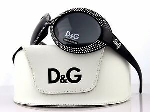 RARE-NEW-Authentic-D-amp-G-Dolce-amp-Gabbana-Black-Crystal-Sunglasses-DG-8038-B-501-87