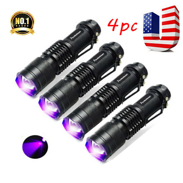 Portable 95LED UV Flashlight Light Torch 395nm Inspection Detection Lamp Black