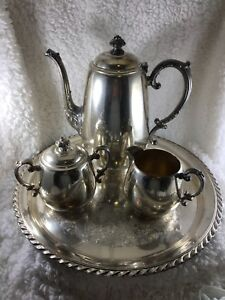 Image is loading Vintage-Wm-Rogers-Silver-Plated-Coffee-Set : silver plated coffee set - pezcame.com