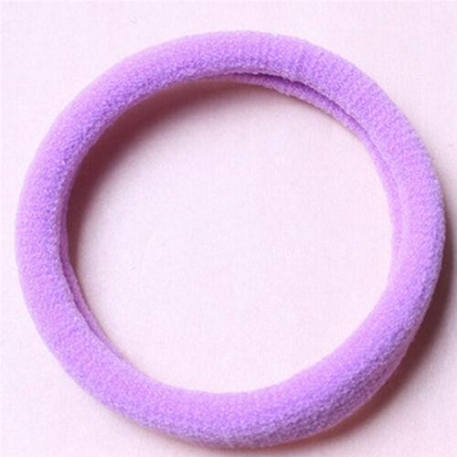 10pcs Frauen elastische Haargummis Band Ring Pferdeschwanz Inhaber Zubehör QH