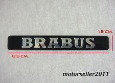 Aluminum Black Brabus Decal Badge Sticker Emblem  G146