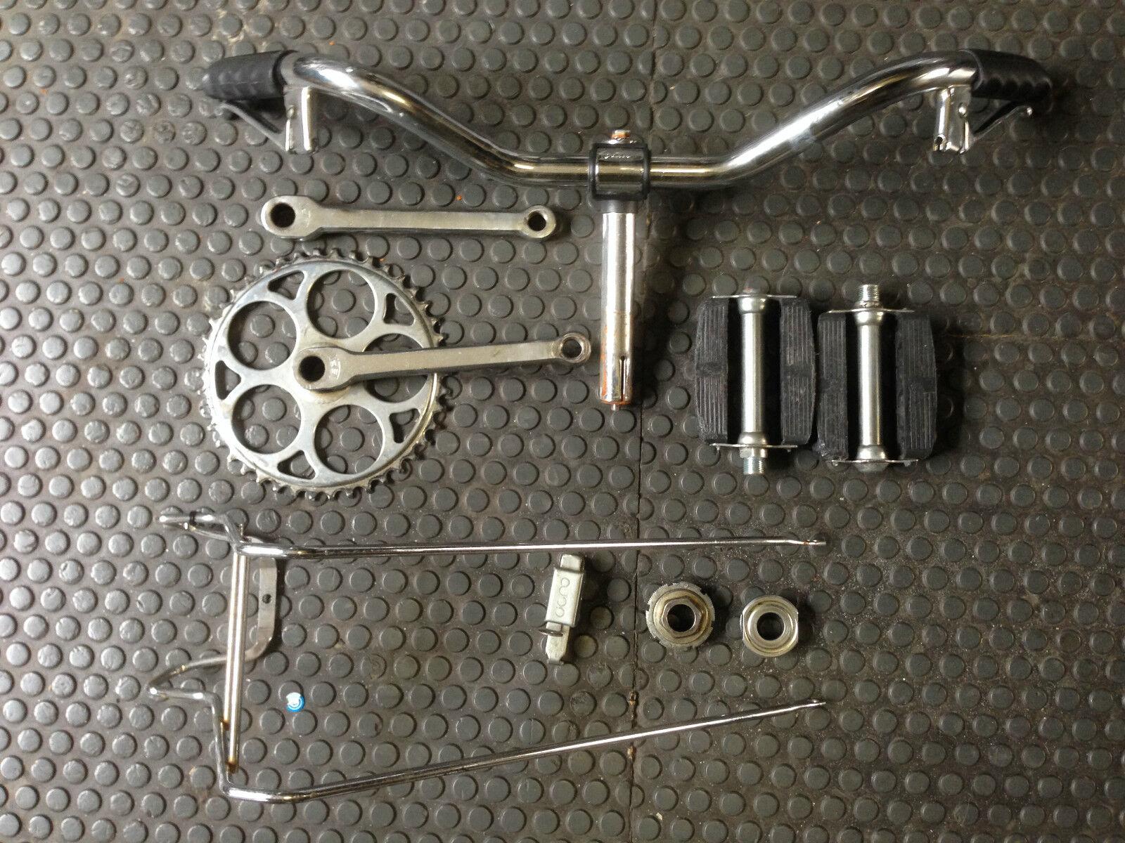 Lotto stock ricambi materiale vario bicicletta,Leri ,Cigno,Varese restauro