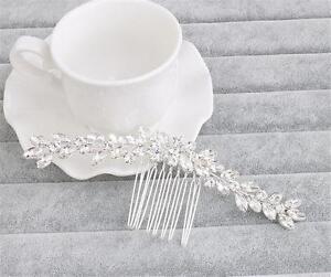 Diamante Hair Comb Crystal Bridal Headdress Rhinestone Wedding Dress Accessories