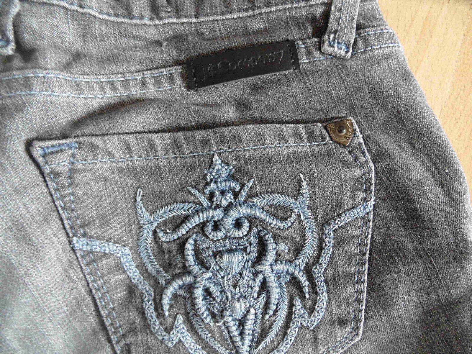 J&COMPANY coole slim fit Jeans BEVERLY grau Gr. 26 NP 229 -- NEU  08-13