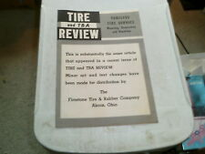 1957 Firestone Tire & Rubber Review w/ Tubeless Tire Service Service Information