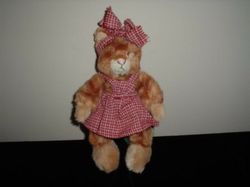 Russ Berrie Kittra Kitten Cat 7 Inch Handmade 100430