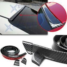 Sport Carbon Fiber Rear Trunk Tail Roof Lip Spoiler Wing Decor Trim Universal Fits Toyota Yaris