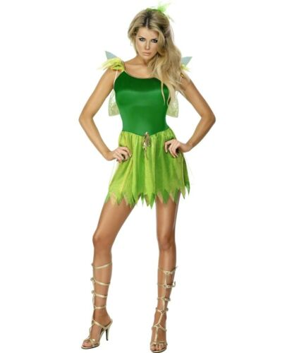 Woodland Fairy Tinkerbell Peter Pan Storybook Adults Ladies Fancy Dress Costume