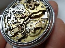 VERY RARE AUDEMARS FRERES 1/4 REPEATER CHRONOGRAPH POCKET WATCH
