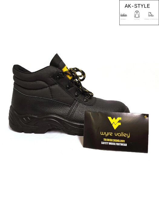 MENS LEATHER STEEL TOE CAP SAFETY WORK HIKER TRAINERS SHOES BOOTS SIZE UK 7-12