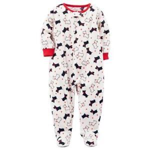 37a053622a75 CARTER S® Baby 12M Ivory Dogs Fleece 1-Piece Pajama or Sleeper NWT ...