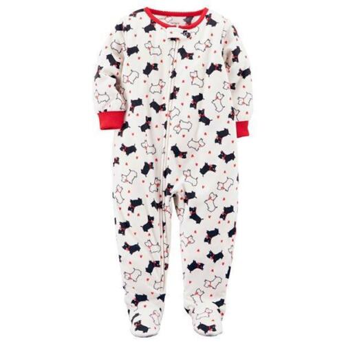 CARTER/'S® Baby 12M Ivory Dogs Fleece 1-Piece Pajama or Sleeper NWT