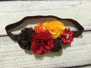 Handmade Fall ,Autumn,Thanks<wbr/>giving Baby/Toddler/ Girl Headband
