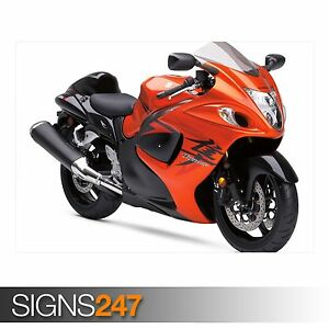 Image Is Loading ORANGE SUZUKI HAYABUSA AC443 BIKE POSTER Photo Poster