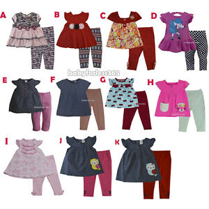 4240e8c65477 Details about New Carter's Baby Girls Outfit Clothes 2 pcs top legging 3 6  9 12 18 24 months
