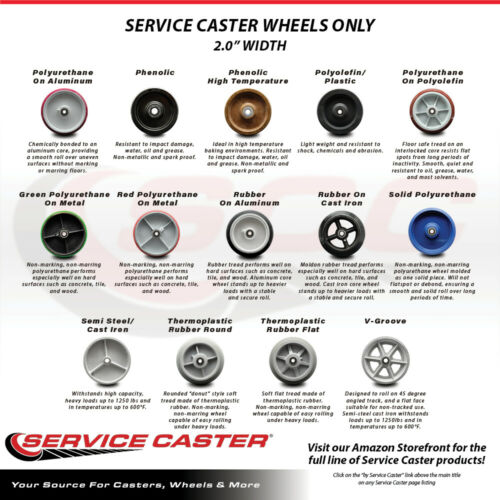 """SCC 6/"""" Rubber on Aluminum Wheel Only w//Roller Bearing-1//2/"""" Bore-550 lbs Cpty"""
