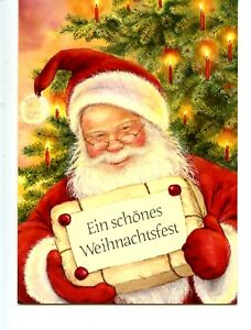 image is loading santa claus w merry christmas package german lisi