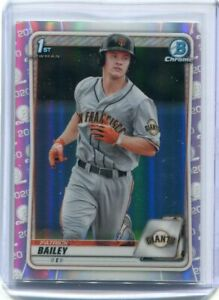 2020 Bowman Draft PATRICK BAILEY Chrome Refractor Base Card Giants