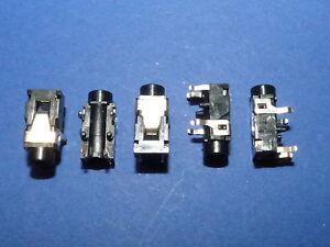 5-x-Klinkeneinbaukupplung-3-5-mm-Stereo-Klinke-Kupplung-Kopfhoerer