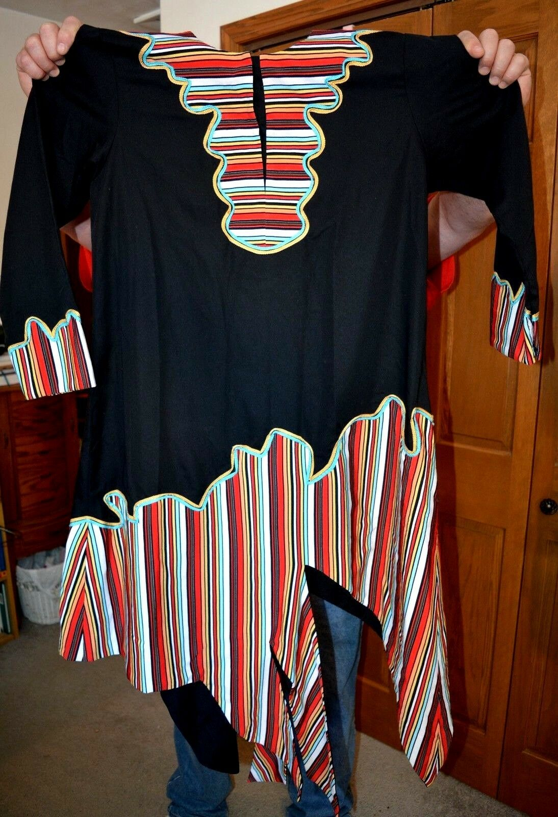 African Ceremonial Dress Hand Made Hand Tailored … - image 11