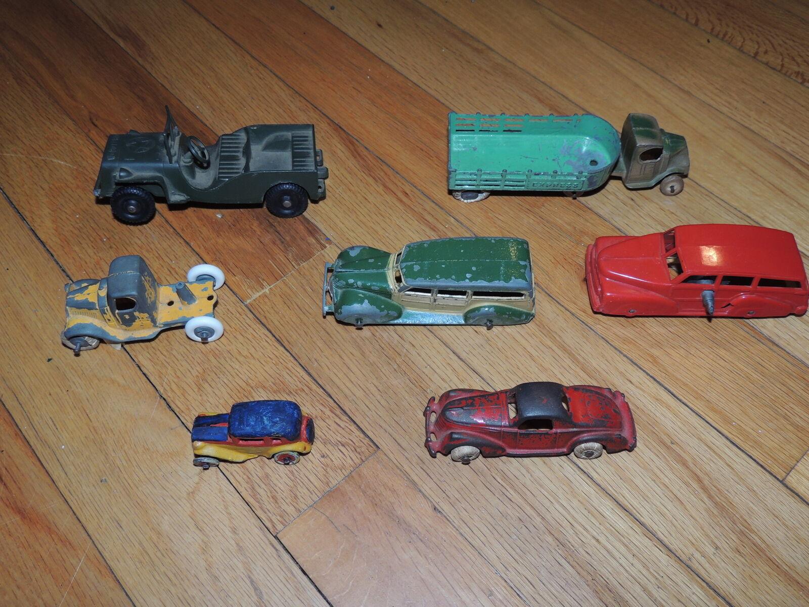 Lot of Vintage Die Cast Cars For Parts Repair