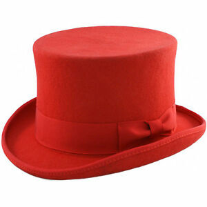 ab20a06716c7f Men s Major Wear Wool Felt stiff Top Hat in Various Colours   Sizes ...