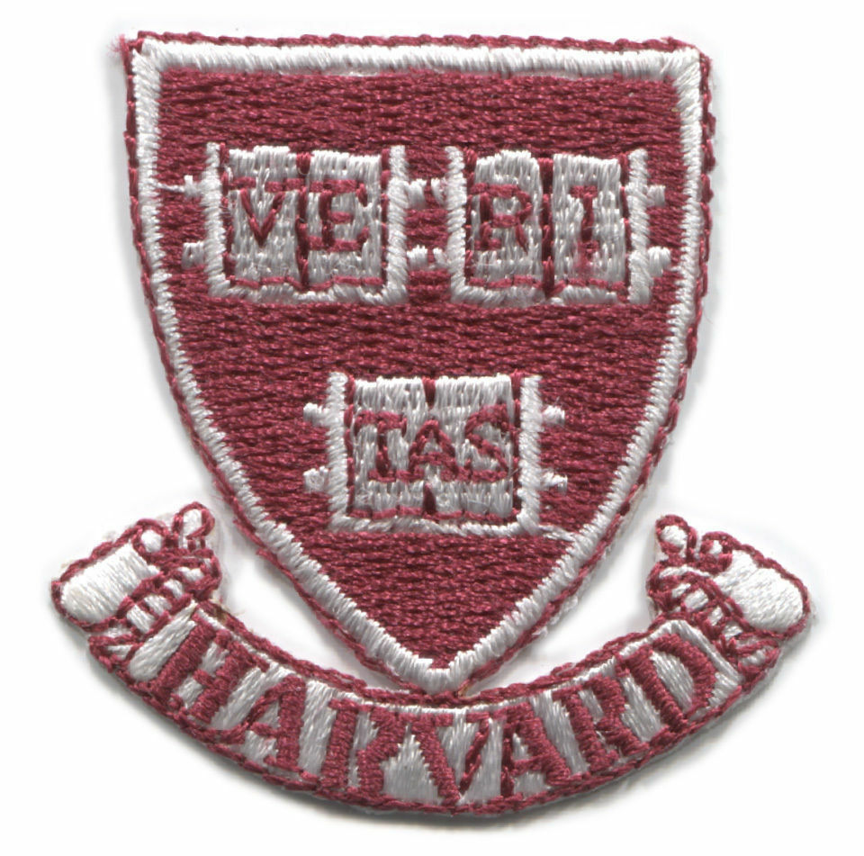 "HARVARD UNIVERSITY CRIMSON NCAA COLLEGE 1.75"" SHIELD LOGO PATCH 2"