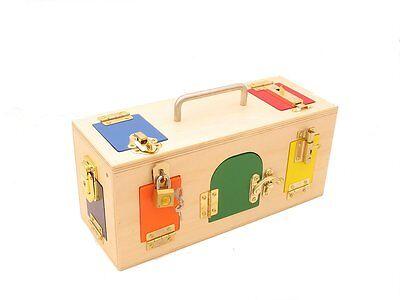 Little Lock Box Trendy Gift For Kids Montessori Practical Life Material