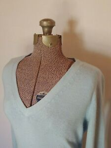 New-York-amp-Company-Women-039-s-Sky-Blue-Long-Sleeve-V-Neck-Sweater-Size-M-Medium