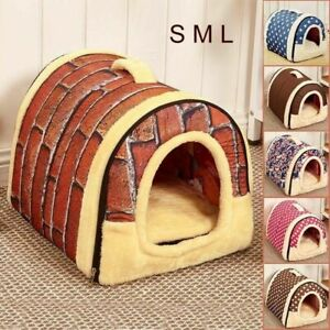 Washable-Puppy-Pet-Dog-Cat-House-Nest-Cave-Mat-Warm-Sleeping-Bed-Cushion-Kennel