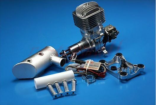 DLE 85CC Gasoline Engine W  Electronic Ignition & Muffler For RC aircraft