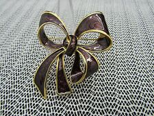 joan rivers VINTAGE GRAPE BOW PIN BROOCH ELEGANT AND SIMPLY STUNNING SIGNED