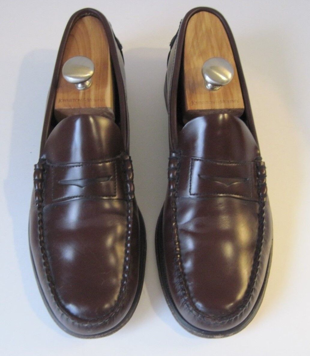 SEBAGO SEBAGO SEBAGO Burgundy Pelle Handsewn Penny Loafer Shoes Uomo Size 13D e43ac6