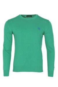 Fred-Perry-Sueter-Hombre-M-verde-algodon-tejido