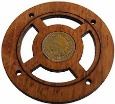 Authentic Indian Head Penny Vintage Coin Sound Hole Cover for Cigar Box Guitars