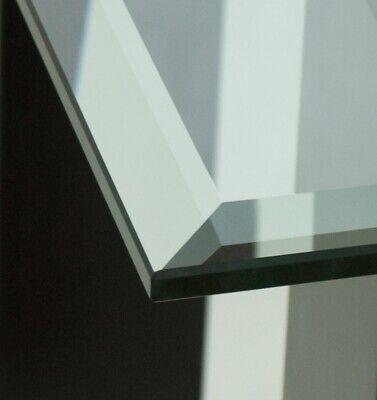 Tischplatte Glasplatte nach Maß Klar Glas 6mm Facettenschliff ESG Kaminplatte | eBay