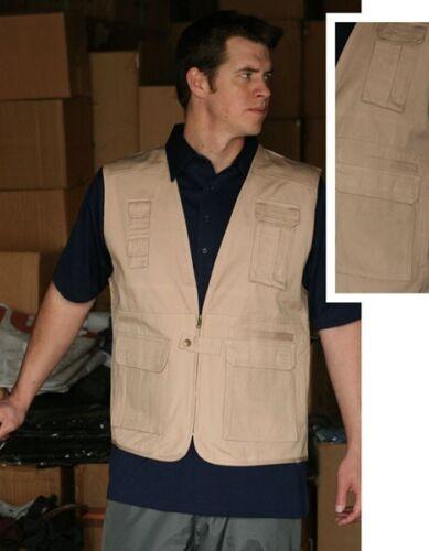 HALEMAN Jeans Wear Cotton Denim Canvis Tropical Vest Fishing Cameraman Fisherman