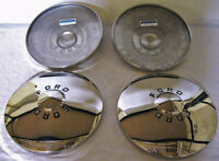 1949 1950 Ford Car Stainless Hubcaps Hub Cap Logo Set Of 4 - Does All 4 Wheels
