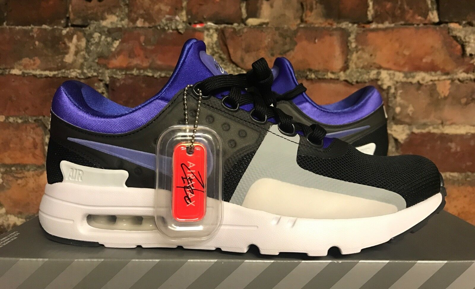 Nike Air Max Zero Qs Eu47.5 Persan purple black white 789695 004 Baskets