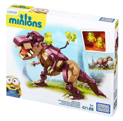 MEGA BLOKS Despicable Me Minions Set 38650 421 pcs Dino Ride T-Rex Dinosaur NEW