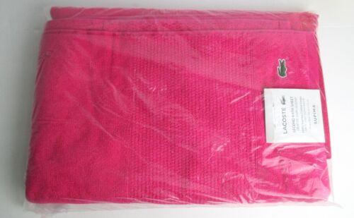 "Lacoste Legend 35/"" x 70/"" Supima Cotton Bath Sheet Towel Magenta Pink NEW"